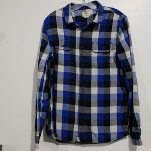 Van's Long Sleeve Flannel Button Down Sz M